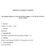 """INVITATION TO TENDER FOR """" Develompment of the Low Carbon Action Plan"""" OF DURRES PORT"""