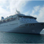 """DPA : The """"Gemini"""" cruiser with 699 onboard tourists arrives at the port of Durres"""