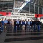"""Durrës, 30.03.3014 """"Delegecioni I sipërmarrësve të  FIERO-s(Federata e Industrive e  shtetit të Rondonia-s), vizitë ne Autoritetin Portual Durrës"""