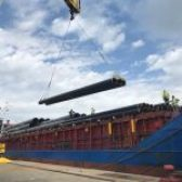 DPA/ 457 TEU, 300 pieces of steel pipes and over 20 thousand tons of bulk cargo are currently being processed in port piers