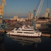 """APD/Jahti """"Crowbridge"""", i parë i inauguruar që nga periudha e mbylljes si pasojë e pandemisë COVID-19, ndalet në Portin e  Durrësit/ 31 korrik 2020"""